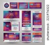 vector corporate identity... | Shutterstock .eps vector #221976322
