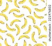 vector rgb seamless banana... | Shutterstock .eps vector #221976832