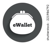ewallet sign icon. electronic...