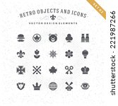 retro objects and icons vector... | Shutterstock .eps vector #221987266