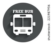 bus free sign icon. public...