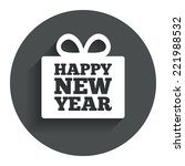 happy new year gift sign icon....