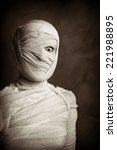 Female Mummy In Grungy Sepia...