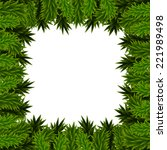 christmas frame of fir branches | Shutterstock . vector #221989498