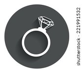 ring sign icon. jewelry with...
