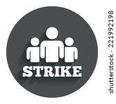 strike sign icon. group of...
