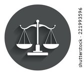 scales of justice sign icon....