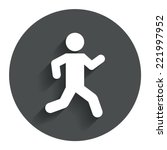 running sign icon. human sport...