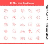 set of thin line stroke sport... | Shutterstock .eps vector #221998282