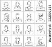 people icons set  office people ... | Shutterstock .eps vector #222001186