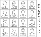 people icons set  office people ... | Shutterstock .eps vector #222001192