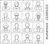 people icons set  office people ... | Shutterstock .eps vector #222001222