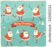 christmas illustration with... | Shutterstock .eps vector #222002212