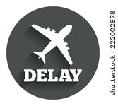 delayed flight sign icon....