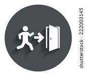 emergency exit with human... | Shutterstock .eps vector #222003145