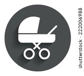baby pram stroller sign icon....