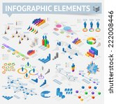 isometric style infographics... | Shutterstock .eps vector #222008446