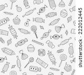 candy seamless background | Shutterstock . vector #222012445