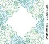 lacy elegant frame. invitation... | Shutterstock .eps vector #222016606