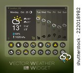 vector forecast widget and... | Shutterstock .eps vector #222018982