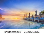 water pool  vacation with... | Shutterstock . vector #222020332