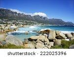atlantic coast at camps bay... | Shutterstock . vector #222025396