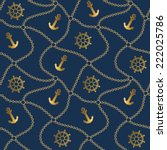 seamless sea pattern with... | Shutterstock .eps vector #222025786