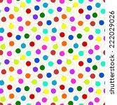 seamless pattern   christmas... | Shutterstock .eps vector #222029026
