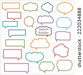 set of different speech bubbles ...