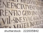 ancient latin inscription  | Shutterstock . vector #222035842
