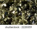 Close-up of Pyrite Crystal structure - stock photo
