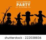 stylish poster for halloween...   Shutterstock .eps vector #222038836
