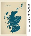 modern map   scotland with... | Shutterstock .eps vector #222040012