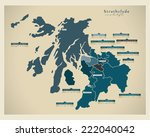 modern map   strathclyde uk | Shutterstock .eps vector #222040042
