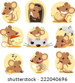 cute brown mouse cartoon in...
