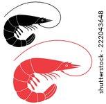 shrimp logo. abstract shrimp on ...   Shutterstock .eps vector #222043648