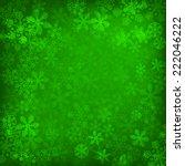 Abstract Green Christmas...