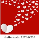 white heart on red screen...