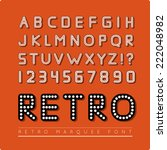 retro marquee font | Shutterstock .eps vector #222048982