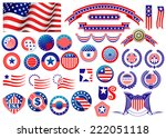 red and blue patriotic american ... | Shutterstock .eps vector #222051118