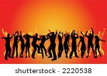 huge party  each silhouette is... | Shutterstock .eps vector #2220538