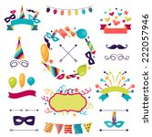 celebration carnival set of... | Shutterstock .eps vector #222057946