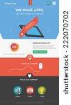 flat designed web template | Shutterstock .eps vector #222070702