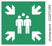 safe condition sign hazard duty ... | Shutterstock .eps vector #222071395