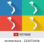 vietnam world map in flat style ...