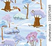 seamless pattern   winter...   Shutterstock .eps vector #222072685