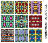 set of different seamless... | Shutterstock .eps vector #222077266