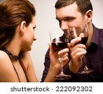 close up of a happy couple... | Shutterstock . vector #222092302