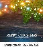 christmas background with wood... | Shutterstock .eps vector #222107566