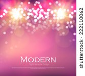 abstract bokeh background.... | Shutterstock .eps vector #222110062